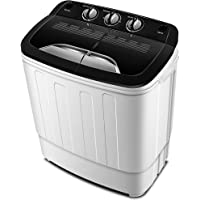 Portable Washing Machine TG23 - Twin Tub Washer Machine with 7.9lbs Wash and 4.4lbs Spin Cycle Compartments by Think…