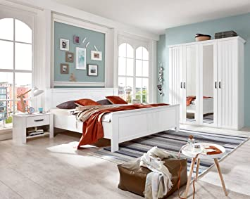 Lifestyle4living Schlafzimmer Schlafzimmermöbel Komplettset Bett