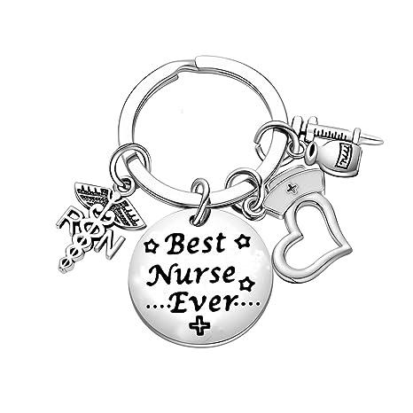 Amazon.com: Llavero para enfermera, con texto en inglés ...
