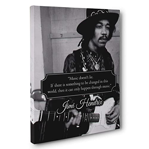 Jimi Hendrix Music Doesn t Lie Quote Canvas Wall Art