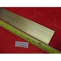 3//8 x 2 x 6 Brass Flat Bar C360 0.375 inch Thickness Craft Plate Sheet Mill Finish Brass