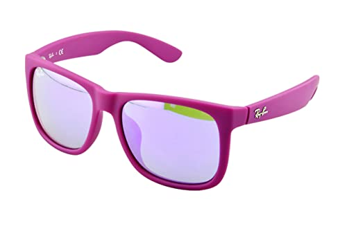 Ray-Ban Justin Sunglasses RB4165F 60894V Rubber Fuchsia Grey ...