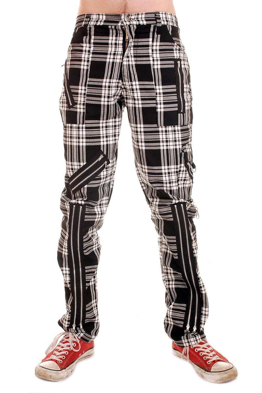 Tiger of London Black and White Tartan Cotton Bondage Pants (38)