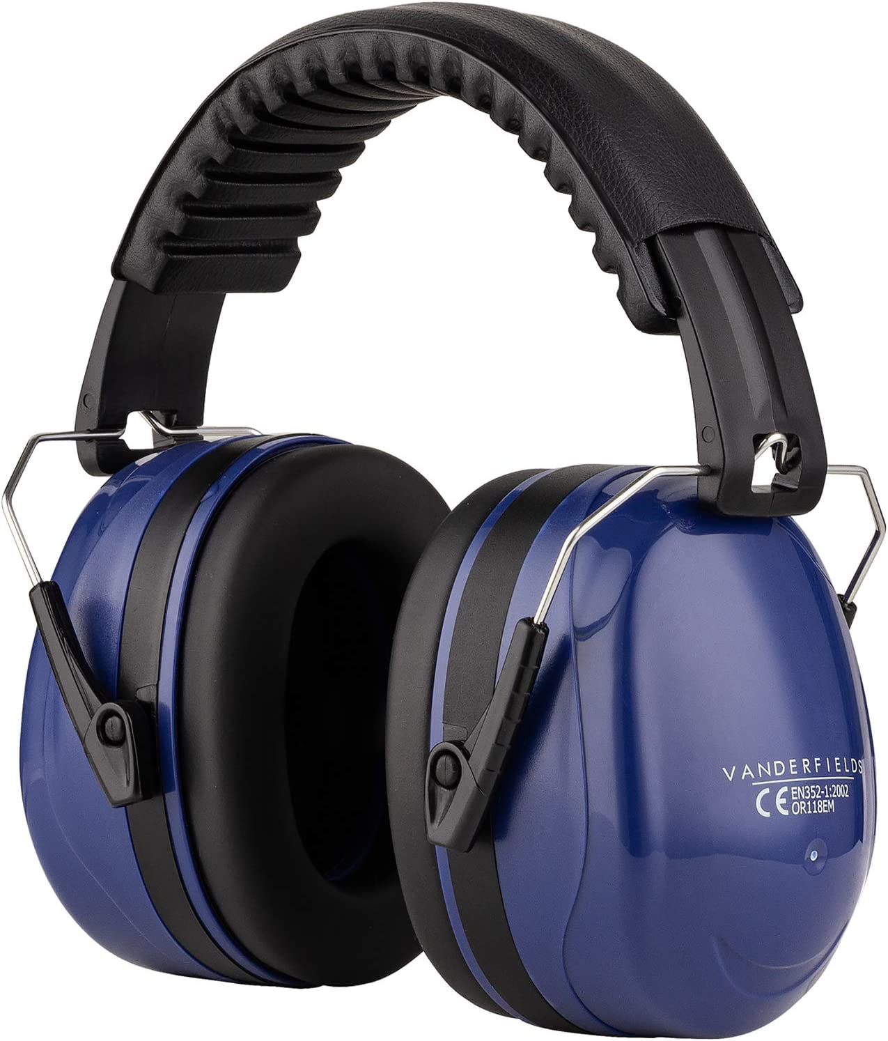 Ear Defenders Adult - Foldable Hearing Protection Ear Muffs Noise Cancelling - Perfect for DIYm Working, Shooting, Gardening - Adjustable Headband for Adults Men Women - 2 Years Warranty - Blue