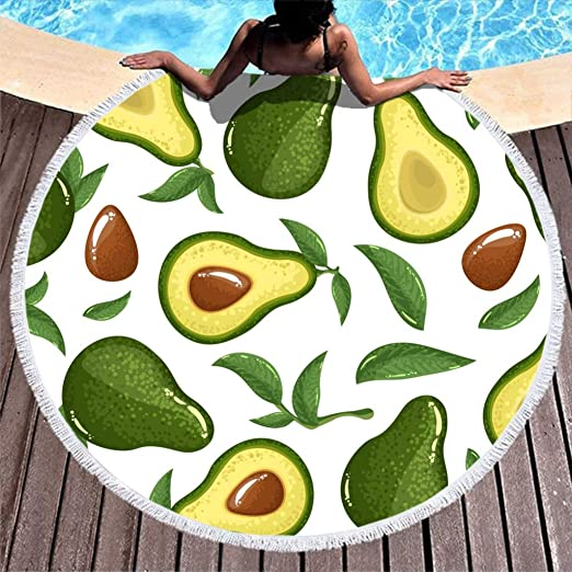 Shinelly Avocado Toalla de Playa, Esterilla de Yoga, Mandala India ...