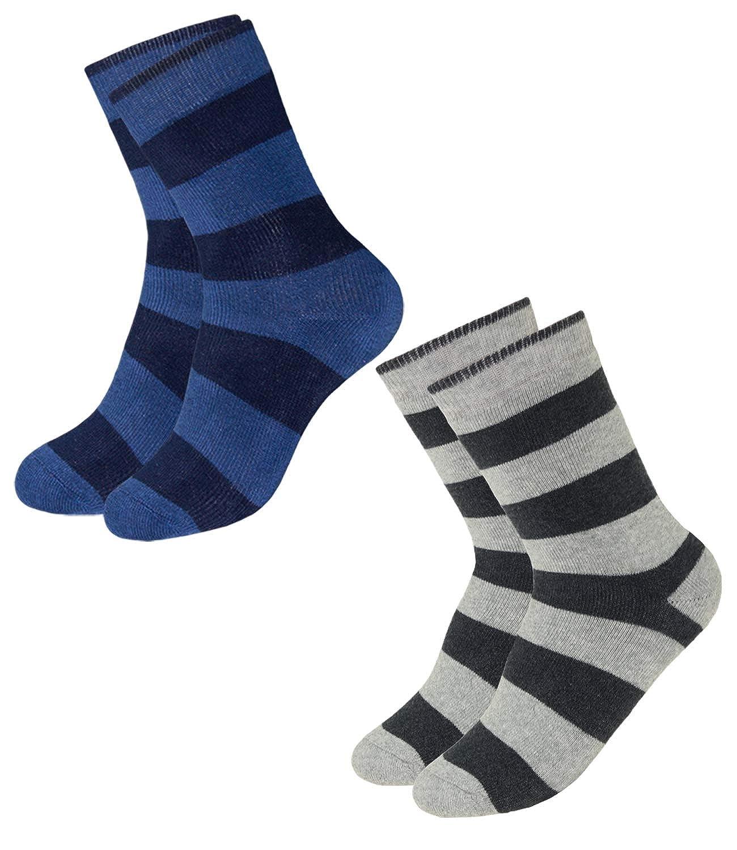 EveryKid Ewers 1er, 2er oder 3er Pack Jungensocken Sparpack Markensocken Thermosocken Socken Strü mpfe Kleinkind ganzjä hrig mit Ringelmuster fü r Kinder (EW-201057-W18-JU3) inkl Fashionguide