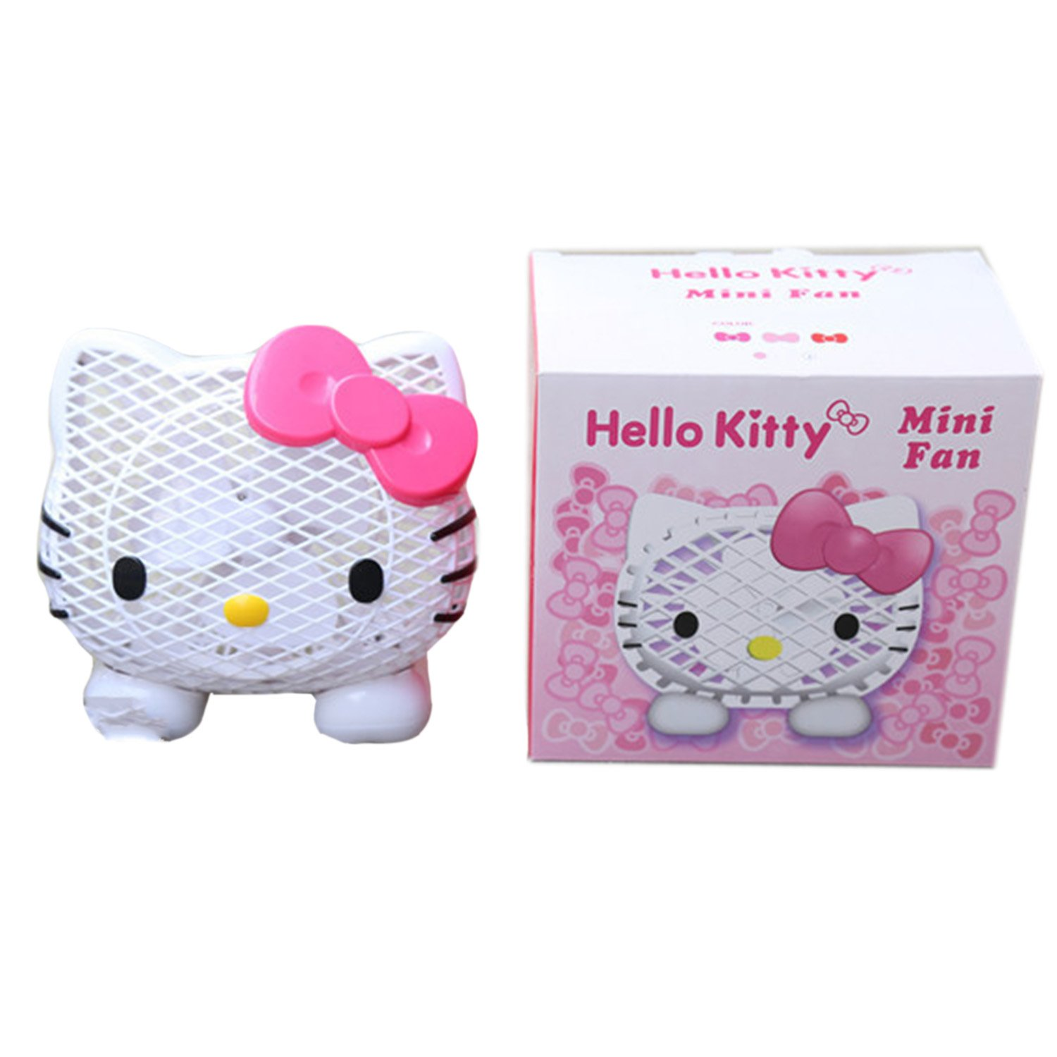 Topfly Adjustable Mini USB Fan Hello Kitty Air Cooling Cooler for Office Home Indoor Rose1