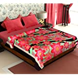 Story@Home Coral Collection Soft Printed Fleece Mink Polyester Double Bed Blanket - Green
