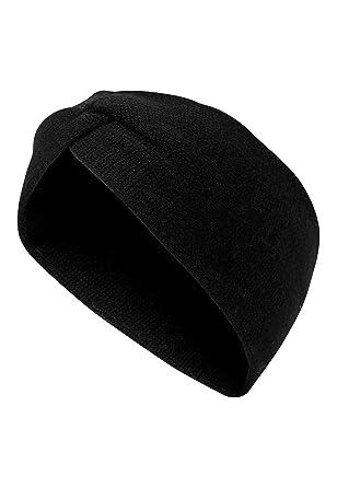 üppiges Design marktfähig hochwertige Materialien HALLHUBER Kaschmir Stirnband schwarz, O.A: Amazon.de: Bekleidung