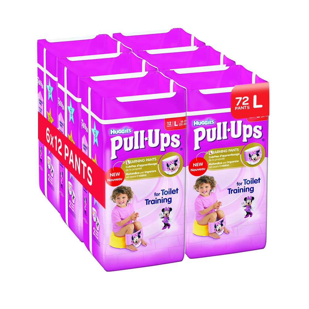 Huggies Pull Ups Potty Training Pants for Girls, Large - Pack of 72 Kimberly Clark 2814401