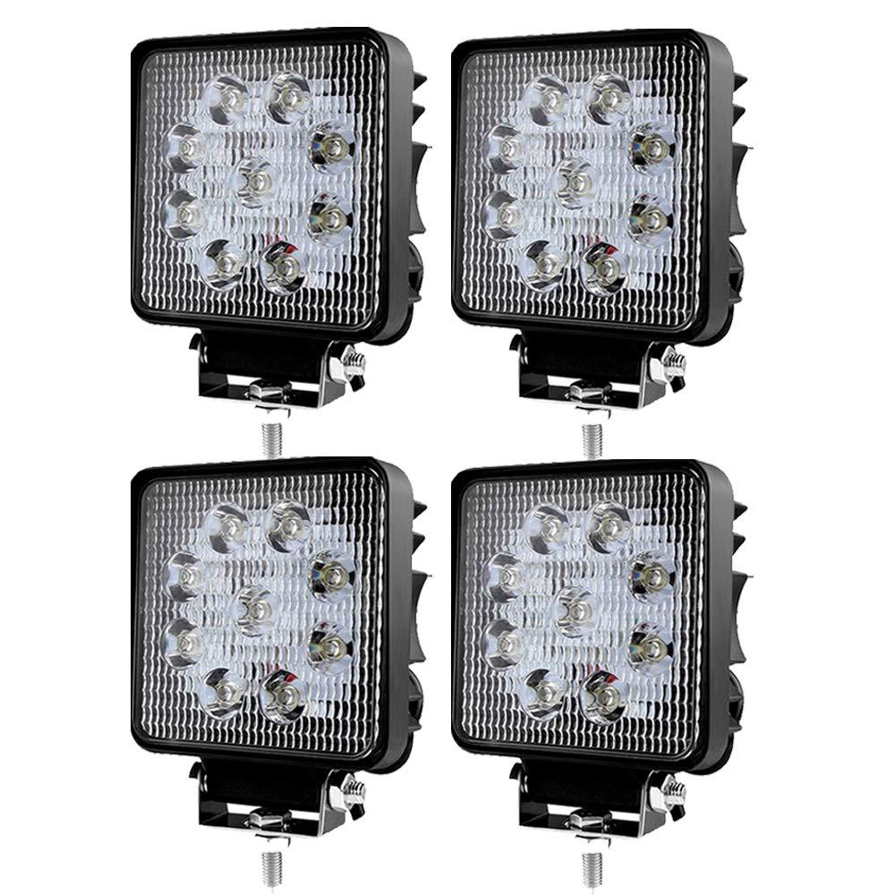 Traktor oder schweres Ger/ät Hengda 6x27w LED Arbeitsscheinwerfer Quadrat Spotlight IP67 Wasserdicht 2430 LM,10-30V DC,6500K LED Arbeitsleuchte f/ür SUV Truck