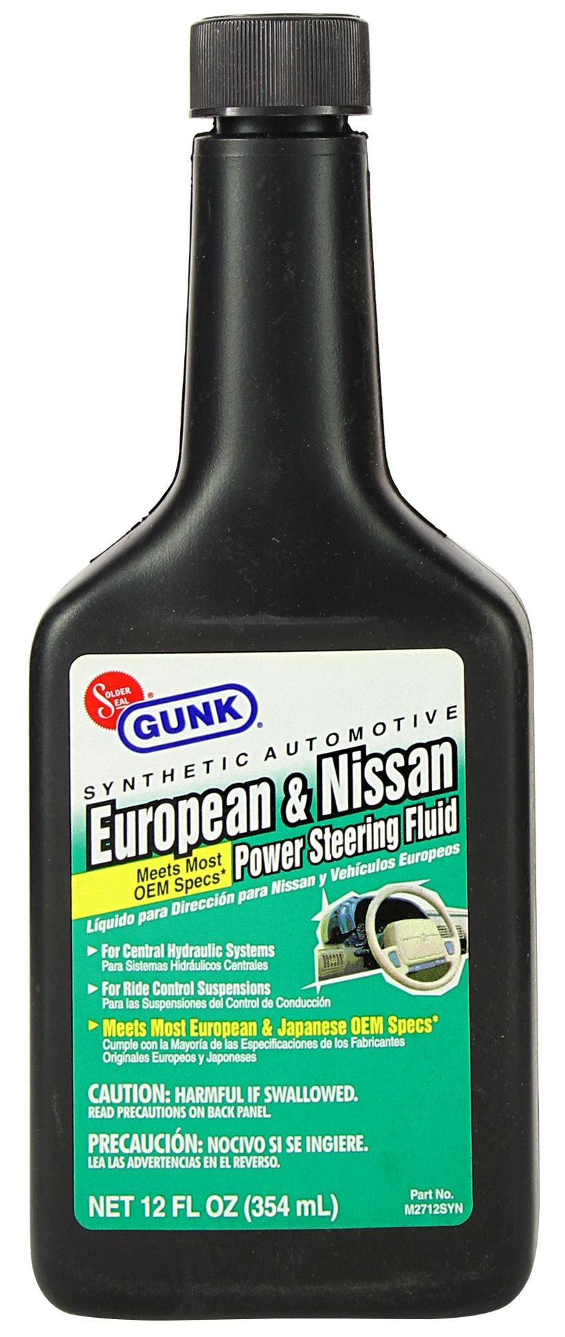 Gunk M2712SYN-12PK Synthetic European & Nissan Power Steering Fluid - 12 oz., (Case of 12) by Gunk