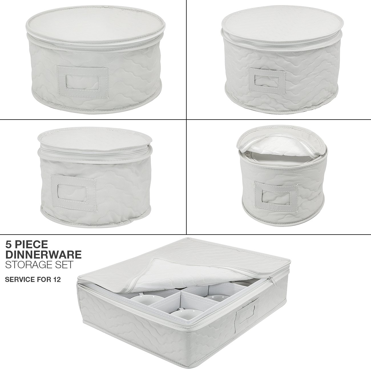 Amazoncom Sorbus Dinnerware Storage 5 Piece Set for Protecting or