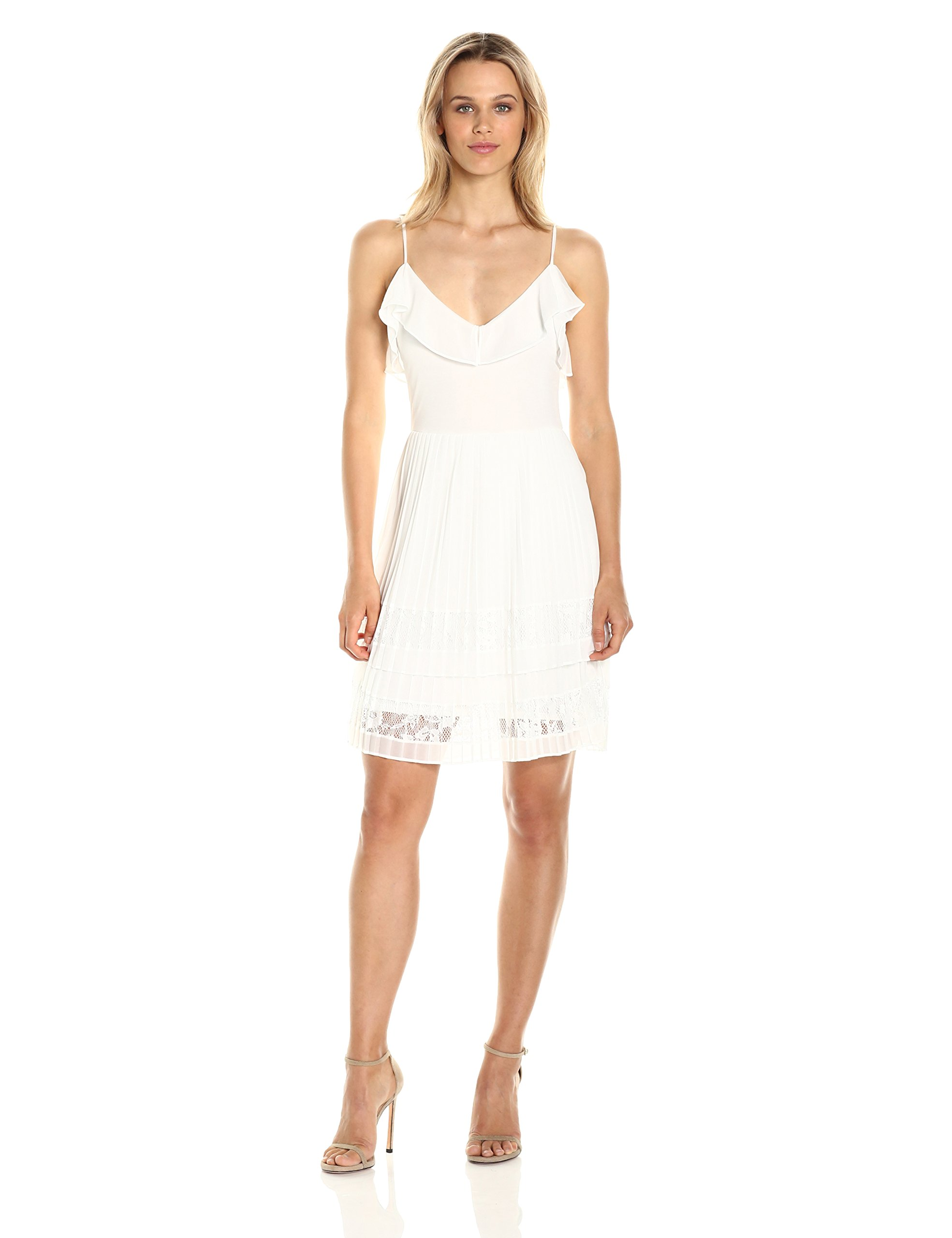 French Connection Women's Adanna Pleat Jersey Dress, Summer White, 2