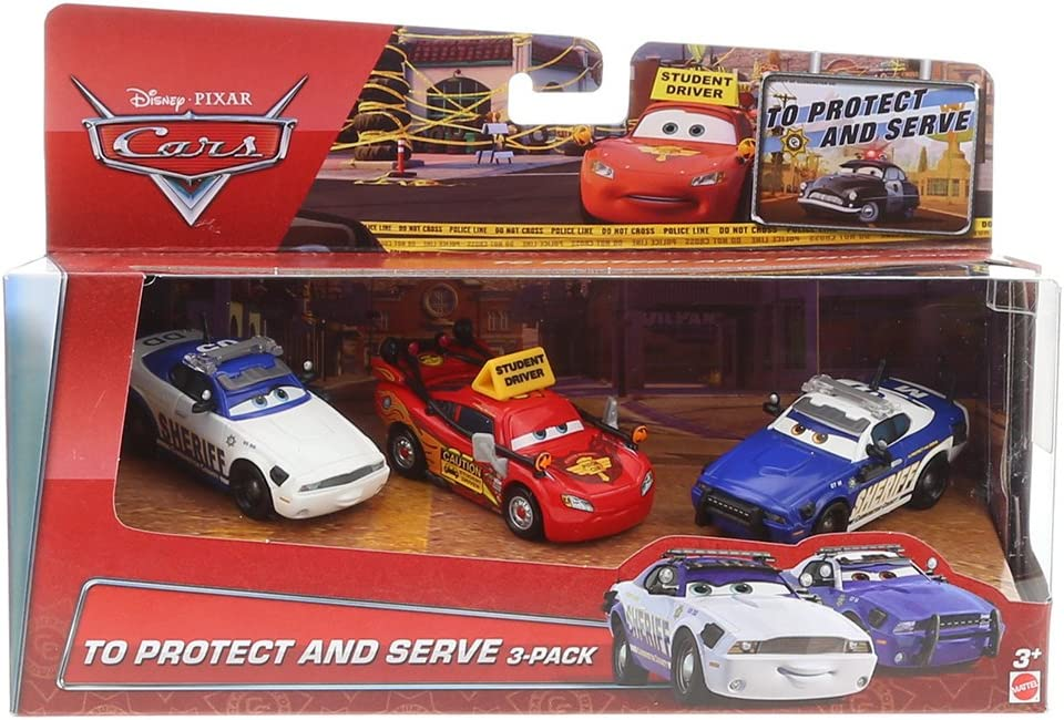 Disney Cars To Protect And Serve 3 Pack - Driving School Lightning McQueen, Mike 07 & Didi 05: Amazon.es: Juguetes y juegos