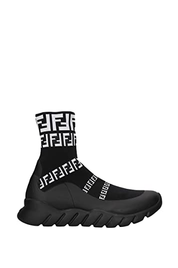 3b4b1b685d Amazon.com | Fendi High-Top Sock Sneaker, 7 UK, Black | Fashion Sneakers