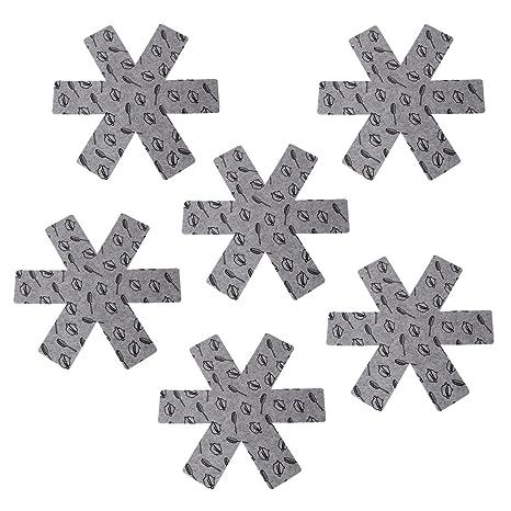 BESTONZON Protector de Olla y Sartén, separador antideslizante superior de las almohadillas divisoras Evitar arañazos para ollas, sartenes, cuencos, ...