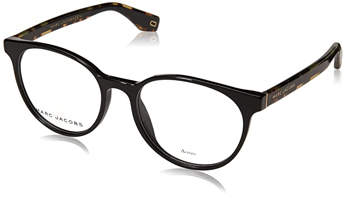 ee2adaf74c Image Unavailable. Image not available for. Color  Marc Jacobs frame (MARC-283  807) Acetate Shiny Black ...