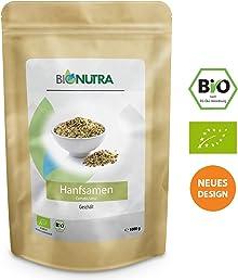 BioNutra Hanfsamen geschält Bio 1000 g, Hanfsamen aus kontrolliert biologischem Anbau