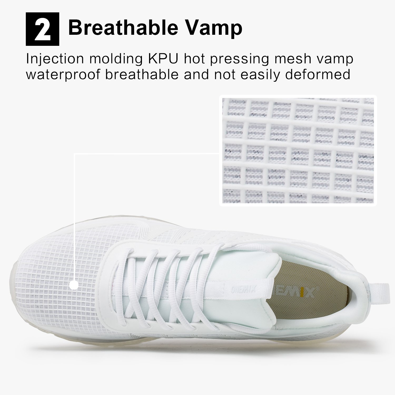 ONEMIX Running Shoes Breathable Air Cushion Sports Shoes Lightweight Outdoor Sneakers for Men and Women B07DZBYT82 Men 12D(M)US=11.41inch|White