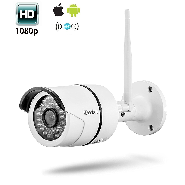 Wireless Security Camera, 1080P Outdoor WiFi IP Surveillance Bullet Camera ,IP66 Weatherproof, Night Vision W2- White