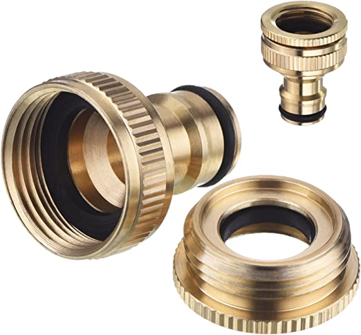 HOZELOCK hose fittings 3 x female tap connector with stop