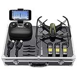 Potensic Drone avec Configuration de Luxe, RC Quadcopter Caméra HD WiFi FPV 2,4Ghz 4CH 6-Axis Gyro Maintien de l'Altitude, Alarme sur la Plage de Vol(U36 Kit)