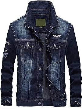 デニムジャケット メンズレトロ刺繡ラベルコットンカジュアル長袖 ウォッシュドレギュラーフィットコートデニムジャケット