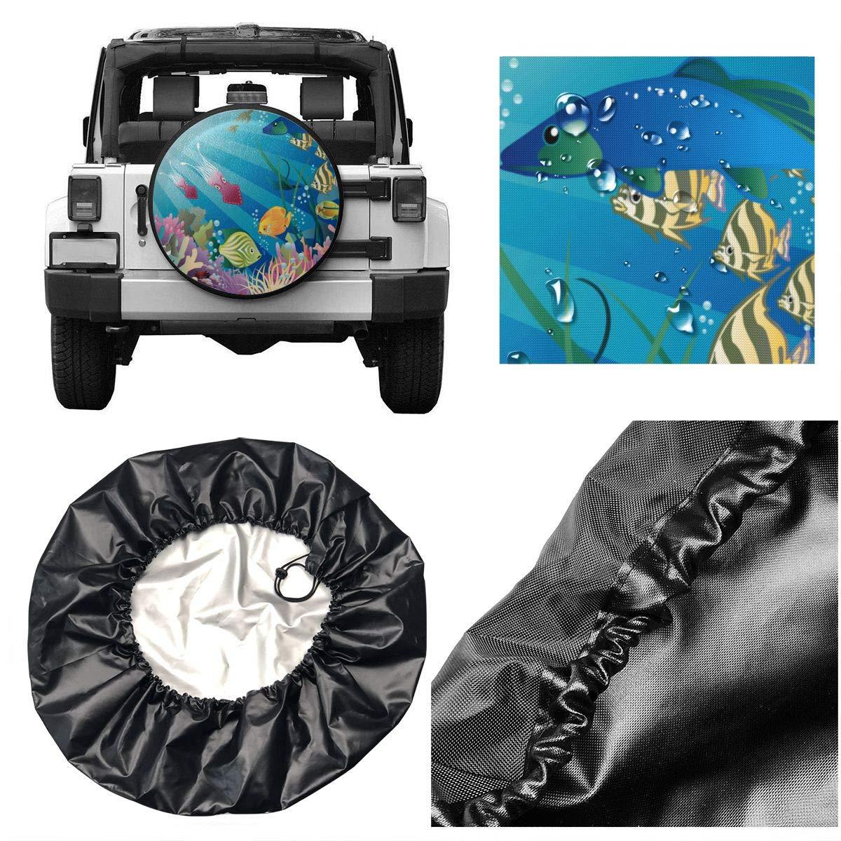 Pokuisnb Sunscreen Fish Tank Aquarium Alphabet Spare Tire Covers for All Cars 17 Inch by Pokuisnb (Image #5)