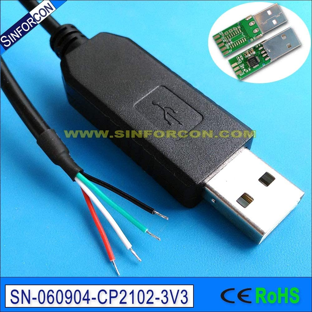 Cable Length: 500cm Computer Cables 3mtr 5mtr 8mtr cp2102 USB uart TTL 3.3v Wire end Cable