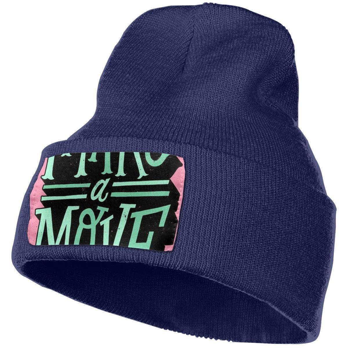 Make A Move Men /& Women 100/% Acrylic Knitting Beanie Hat Slouchy Jogging Beanie