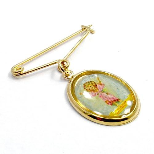 Chapado en oro de 14 K Pin broche babero de bebé niños regalo recién ...
