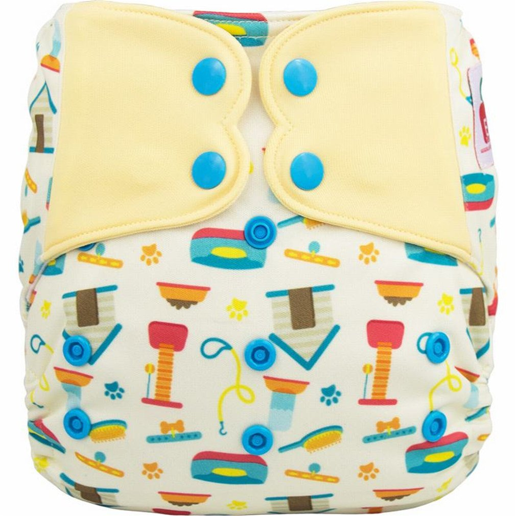 Elf Diaper Cover New Prints No Pocket Washable Baby Nappy Cloth Diapers Nappies C01Y44 2 SD microfiber