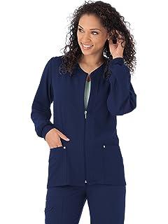 dd523409685 Jockey 2378 Women's Riveting Warm-Up Scrub Jacket - Comfort Guaranteed