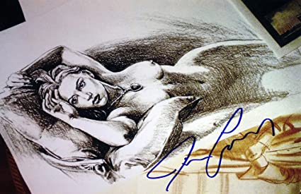 Titanic Jack S Drawing Facsimile Signed By James Cameron At