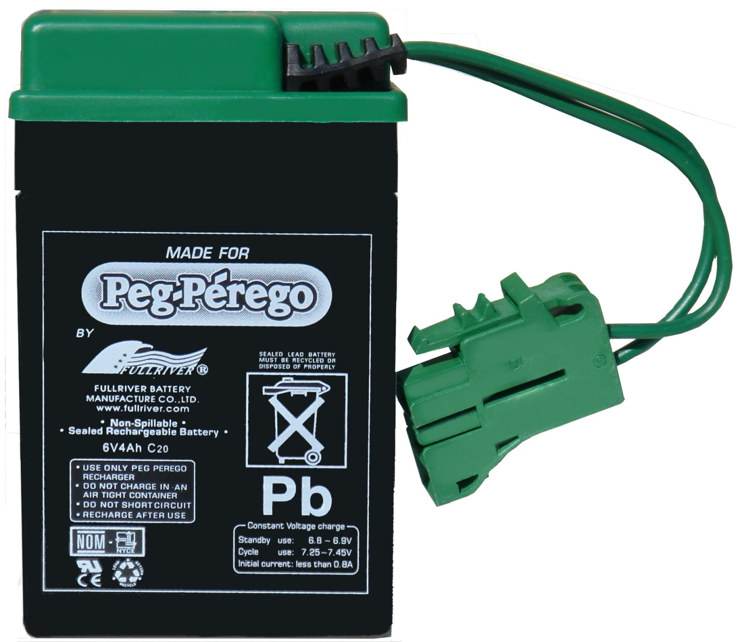 Amazon.com: Peg Perego 6 Volt Replacement Battery for Peg Perego Vehicles:  Toys & Games