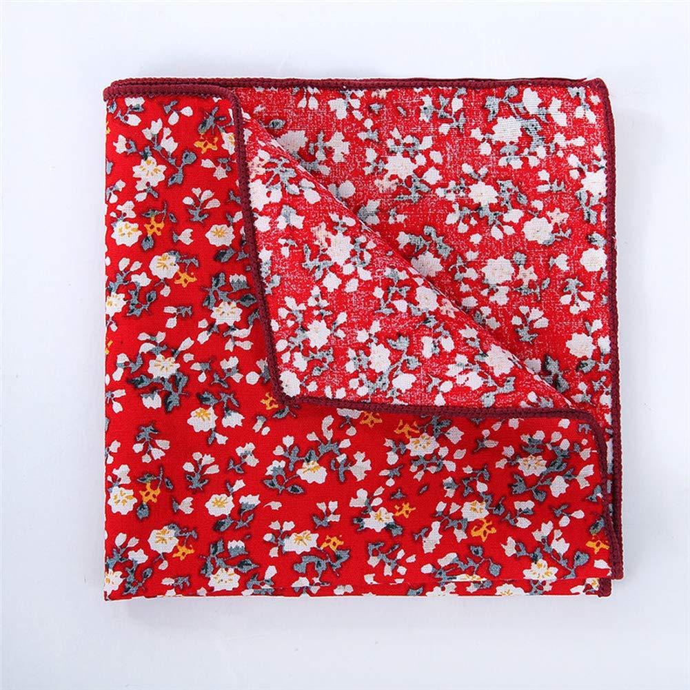 Yevison Men's Business Small Square Casual Suit Pocket Towel Cotton Flower Handkerchief Clothing Accessories
