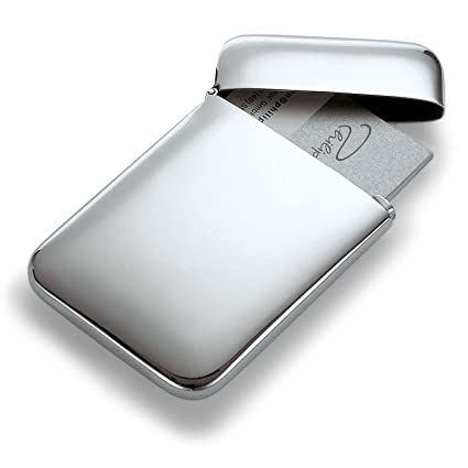 Philippi 142003 Cushion Visitenkartenetui Edelstahl 10 X 6 5 X 1 2 Cm Silber