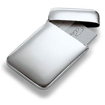 ... PUレザー×ステンレスカードケース 名刺入れ ビジネス カード入れ