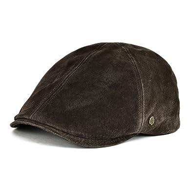 a69ab27b021 VOBOOM® 100% Genuine Leather Ivy Caps Retro Ivy Hat Cap 6 Pannel Cabbie  Classtic