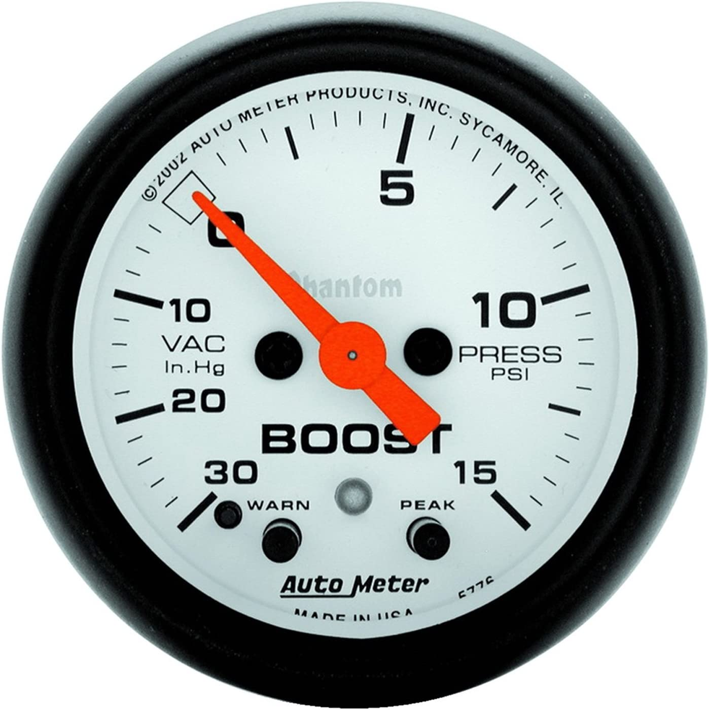 Auto Meter 5776 Phantom Electric Boost//Vacuum Gauge