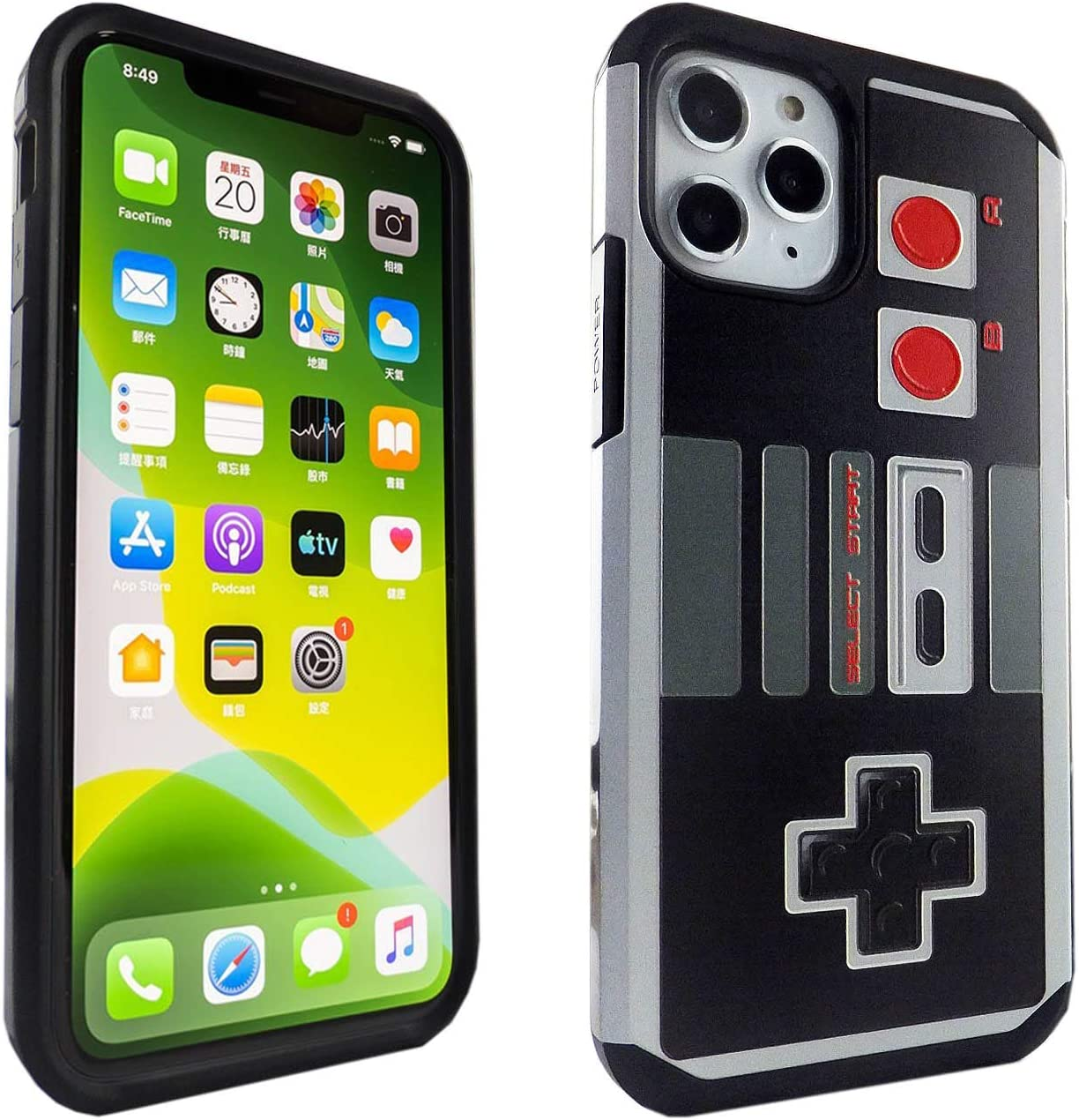 iPhone 11 Pro Case Game Controller, IMAGITOUCH 2-Piece Style Armor Case with Flexible Shock Absorption Case & Retro Game Controller Design Cover Hybrid for iPhone 11 Pro (5.8 inch)