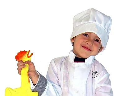 Sombrero o gorro cocinero infantil de tela  Amazon.es  Juguetes y juegos 804ab5d6af1