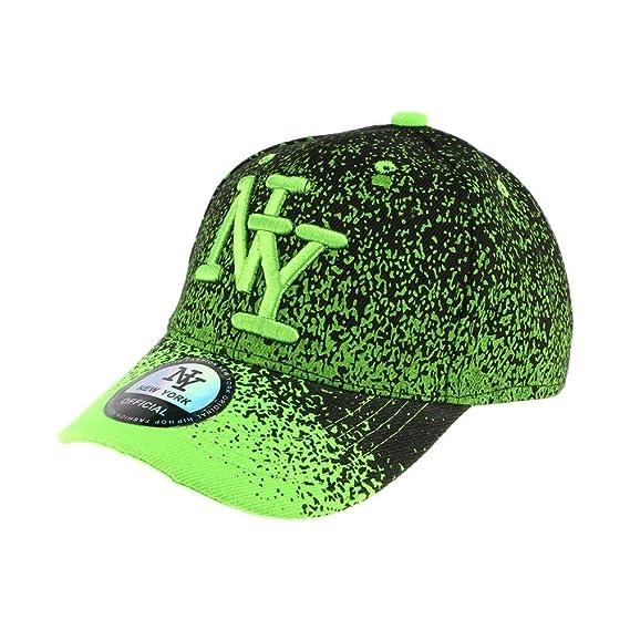 meilleur endroit meilleur endroit style le plus récent Hip Hop Honour Casquette Baseball Enfant Verte et Noir Wave ...