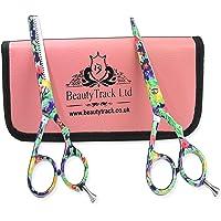"""BeautyTrack Cheveux Ciseaux - Ciseaux de coiffure professionnels - Ciseaux de coiffure - longueur 6 - 6.5"""" - multicolore + rouge Sac du Cadeau"""
