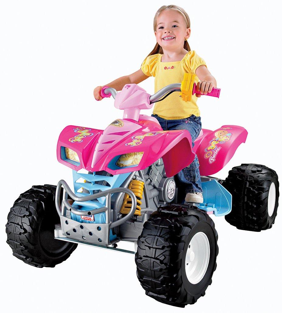 Amazon.com: Power Wheels Barbie Kawasaki KFX with Monster Traction