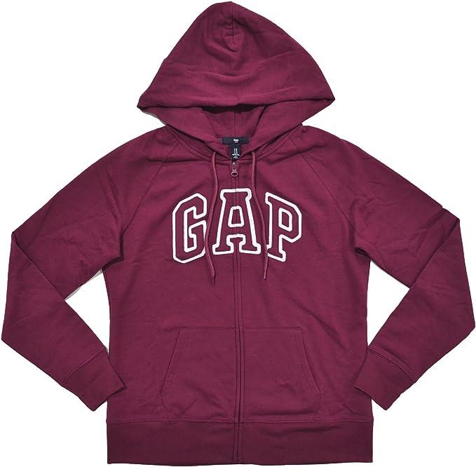 GAP Damen Kapuzenpullover mit Reißverschluss und Logo