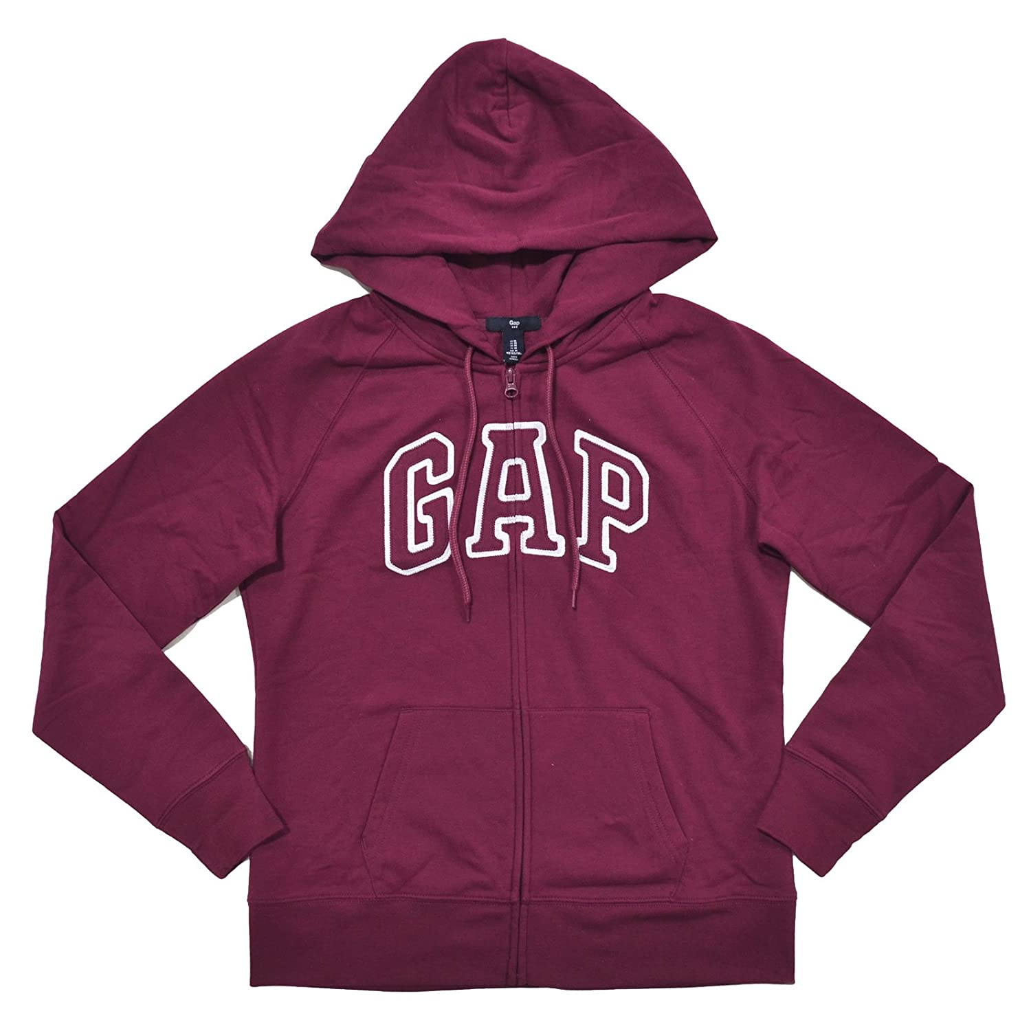 GAP Womens Fleece Arch Logo Full Zip Hoodie