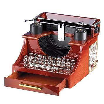 Máquina de escribir antigua caja de música, Rojo