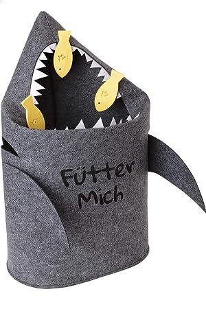 Grinsefisch Wäschekorb Kinderzimmer - Spielzeug Aufbewahrung für ...